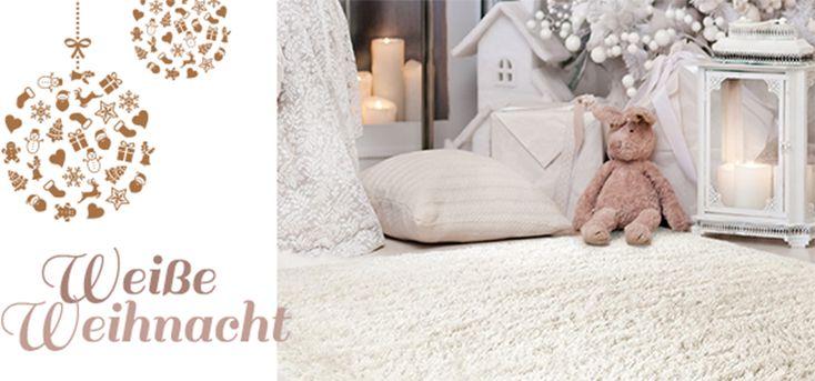 Weiße Teppiche zur weißen Weihnacht - elegant & glamourös