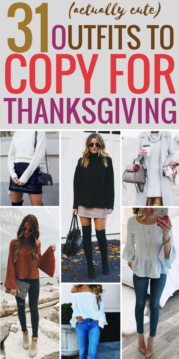 I have searched for hours for my Thansgiving outfit and I finally found one that will be perfect to wear! Thanks for pinning!! #thanksgiving #thanksgivingoutfit #thanksgivingoutfitwoman #fashion