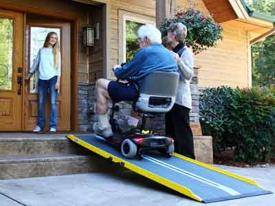 The perfect lite ramps for active people.   Use it on stairs, vehicles, decks and more.