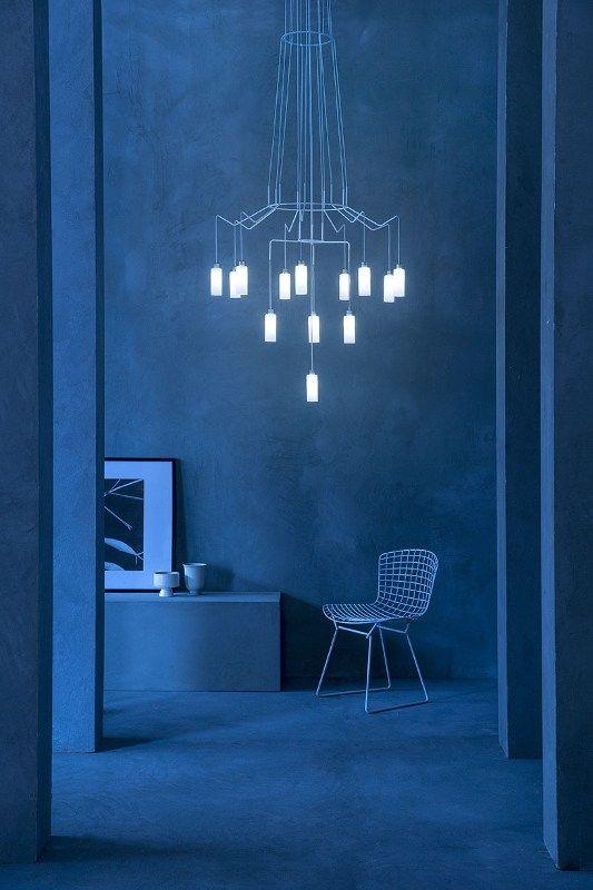 LED steel pendant lamp CHAN LED - @prandinaitaly