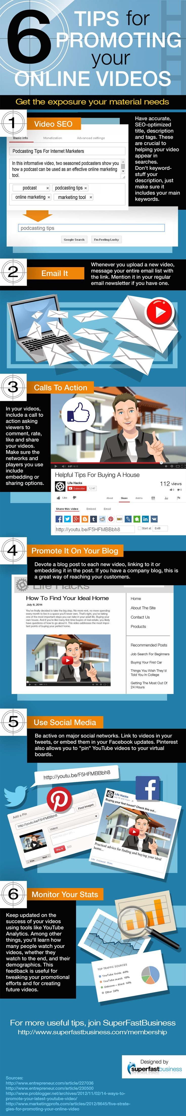 6 Tips for Promoting your Online Videos | Writers and Authors http://www.writersandauthors.info/2014/07/6-tips-for-promoting-your-online-videos.html