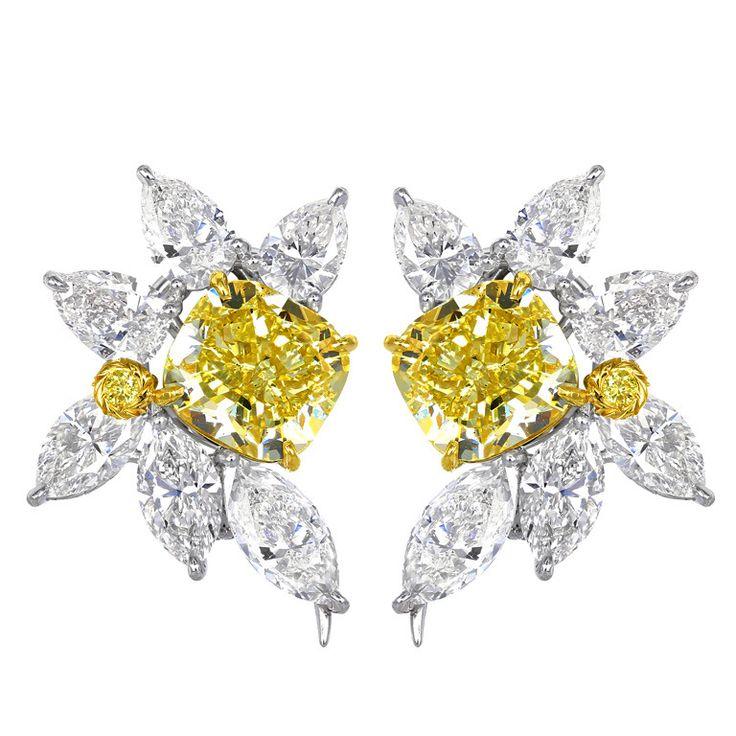 Diamond Cluster Earrings White Gold