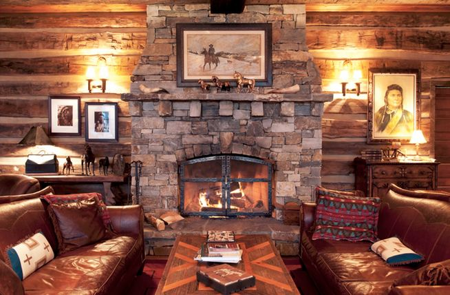 1000 Images About Lodge Fireplace On Pinterest