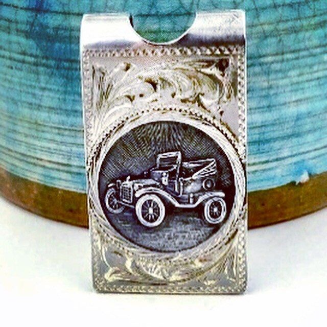 Vintage Mexico Sterling Silver Model T Ford Automobile Money Clip #vintagemoneyclip #mexicosterling #etsysellsvintage #gotvintage #midcenturymodern #modeltford