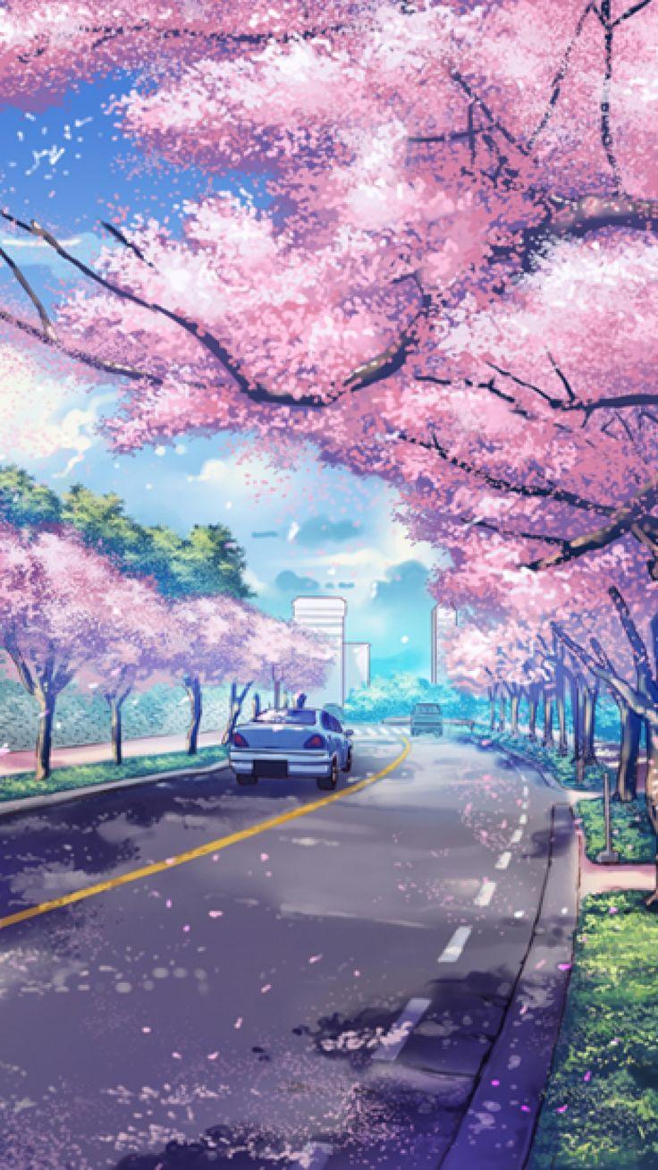 Japan Cityscape iPhone wallpaper Anime scenery wallpaper