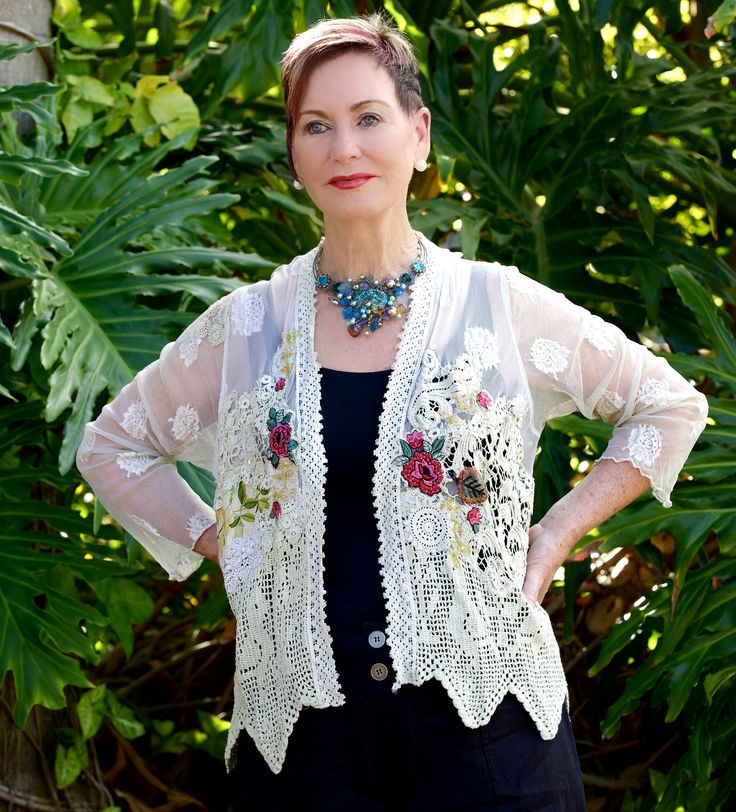 Beautiful detail, Old world lace jacket. Team up for every occasion. Very classy