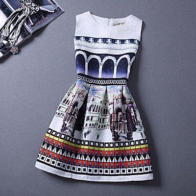 Cute sleeveless skater dress
