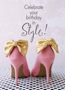 Echte kaarten maken & versturen - Verjaardagskaart vrouw - celebrate your birthday in style