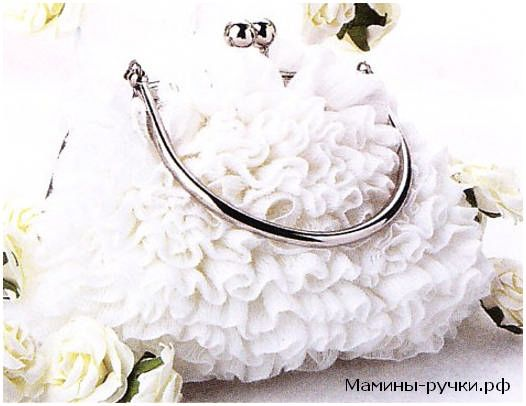 Вязаная спицами сумочка для невесты (knitting clutch-bag for the bride)