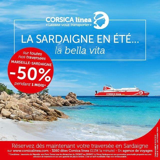 """La bella vita en #Sardaigne avec #CorsicaLinea ! Réservez votre prochaine traversée vers Porto Torres à prix doux avec notre """"Prima Sardegna""""  À découvrir sur www.corsicalinea.com"""