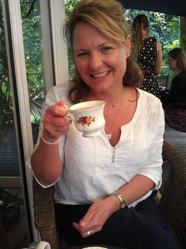 Sipping tea @ Garden mania March 2014
