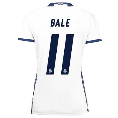 Real Madrid Home Jersey 2016/17 - women - with Bale 11 printing, White: The Real Madrid Home Shirt… #Sport #Football #Rugby #IceHockey