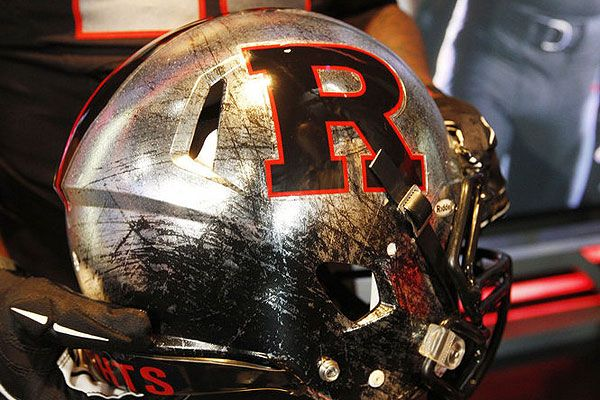 Love the new 'battle scarred' Rutgers helmet. Gotta love college football season!