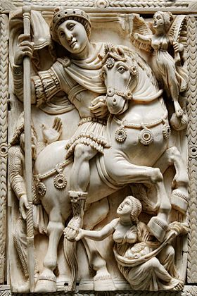 Barberini ivory -500 AD appears to represent the Emperor Anastasius I, it exhibits classically high relief and naturalism admits a distinctively Byzantine portraiture of Christ with a formal abstract character.