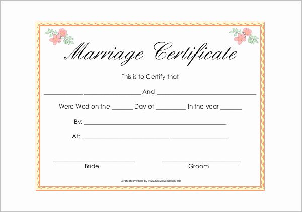 Islamic Marriage Certificate Template Beautiful 42 Free Marriage Certificate Templates Word Pdf Doc In 2020 Wedding Certificate Marriage Certificate Certificate Format
