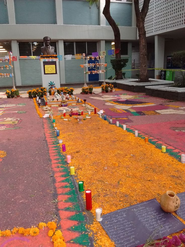 """Ofrenda Escuela Nacional Preparatoria Plantel N°6 """"Antonio Caso"""" Cortez Luna Dulce María  Dispositivo móvil  1920X2560  Calle Corina 3, Coyoacán, Del Carmen, 04100 Ciudad de México, D.F. 30-10-15"""