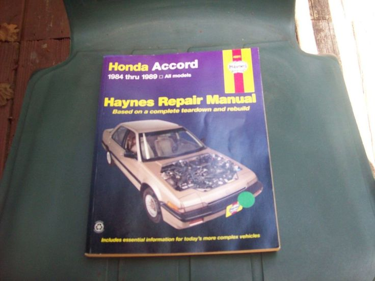 HONDA Accord Haynes Repair Manual. Includes all Models for Accord years 1984-1989. Pages are yellowed some but otherwise no tears, markings or underlinings. | eBay!