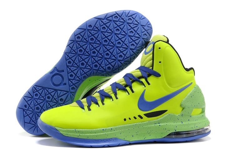 Neon Lime Green Royal Blue Nike Zoom KD V 554988 401 Kevin Durant Shoes 2013
