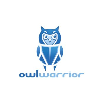 Owl warrior logo by Paul Cristian at Coroflot.com