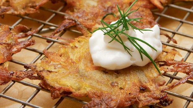 Root Vegetable Latkes from Mayim's Vegan Table by Mayim Bialik #latkes ...
