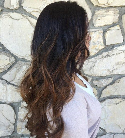 Brown Balayage Ombre For Black Hair