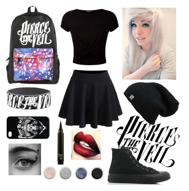 """""""Pierce the veil"""" by cr33pyp45t4 ❤ liked on Polyvore featuring New Look, Terre Mère and Converse"""