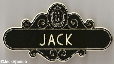 Club 33 Name Tag