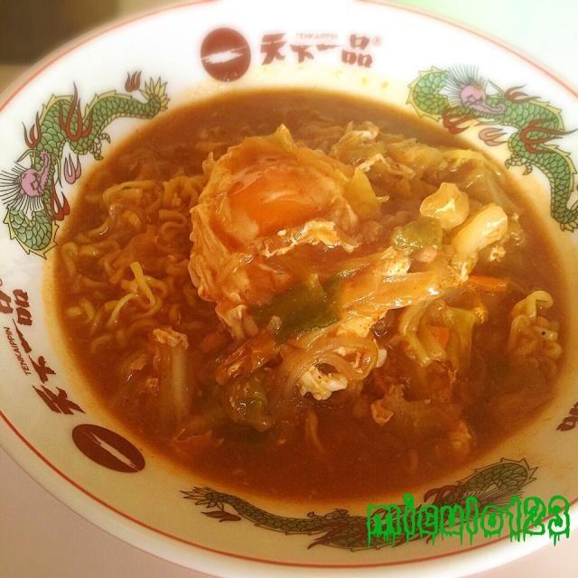 最後のスープまで美味しくいだいてエコでもあるよね(♡´艸`) - 53件のもぐもぐ - 味仙の鍋スープで〆のらーめん by miculo123