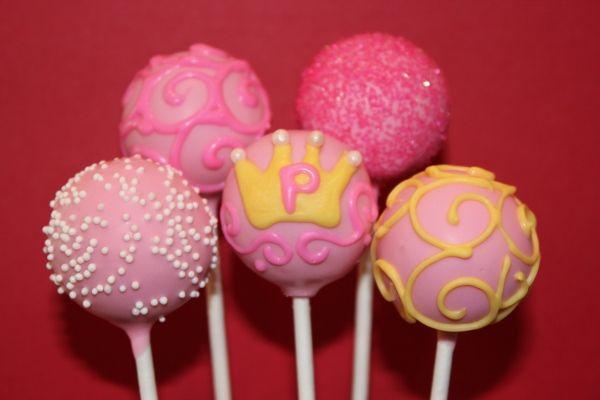 or maybe princess cake pops to go with a princess barbie cake?  hmmm...