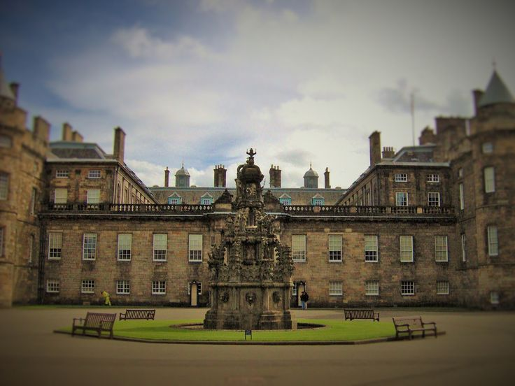 Hollyrood Castle, the Queens Scottish Palace in Edinburgh