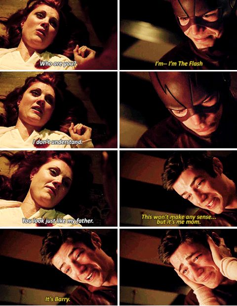 Each time I watch this scene, I well up. Barry Allen needs to make that adorable teary-eyed face in The Flash.