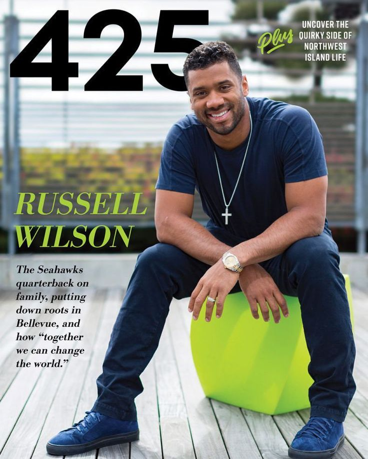 Russell Wilson covers the July Issue of 425 Magazine.""