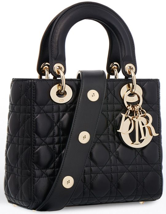 #2017 Collection. Black #Dior lady bag with golden hardware. #Cheapest new arrival