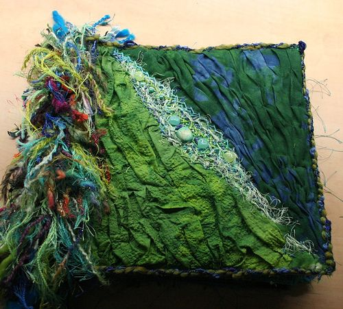 fabric art journal cover