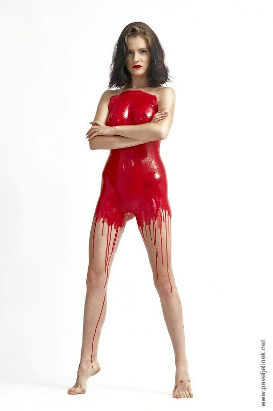 red liquid latex bodypainting by www.liquidlatex.cz model Sandra P. https://www.facebook.com/Sandra-P-fb-book-233824313429542/?fref=ts
