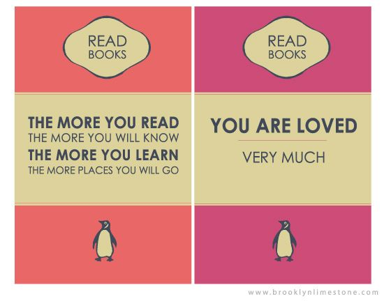 Penguin Book Cover Posters : Freebie download penguin book inspired mini posters