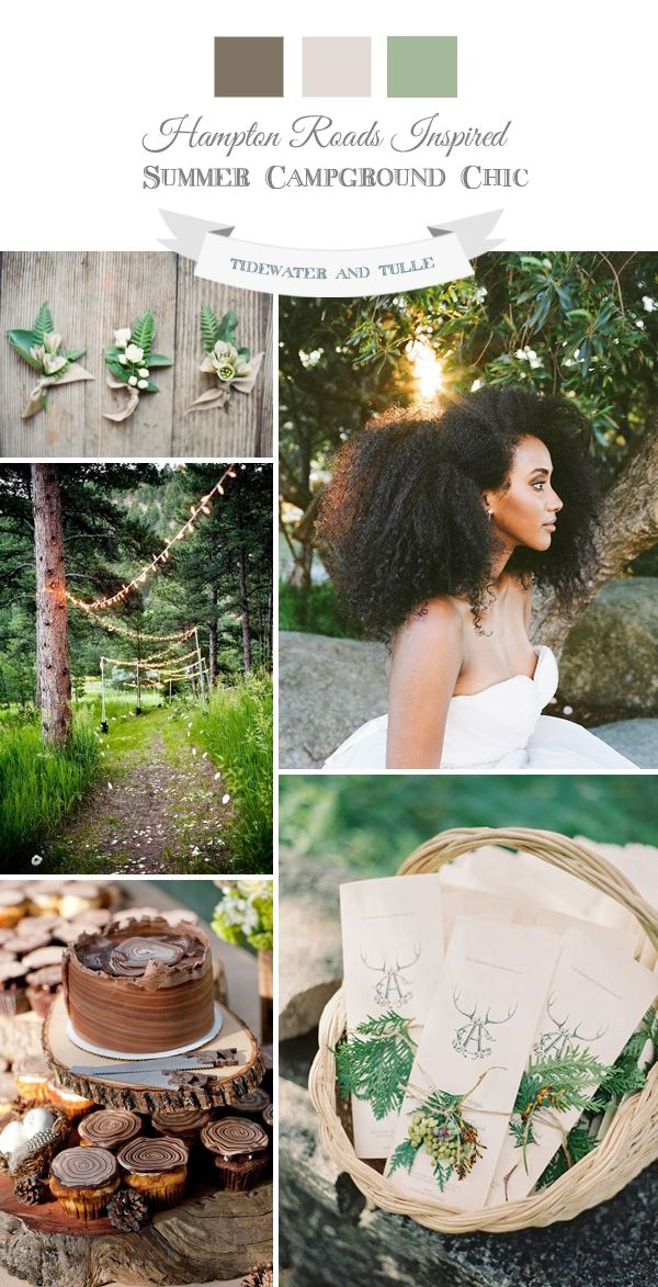 Chic Summer Campground Wedding Inspiration and Ideas for a Woodlands Wedding Theme