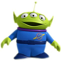 These are the stereotypical aliens you think of when you hear aliens. the 'Toy Story' aliens give a simple and big colour palette to a good design.