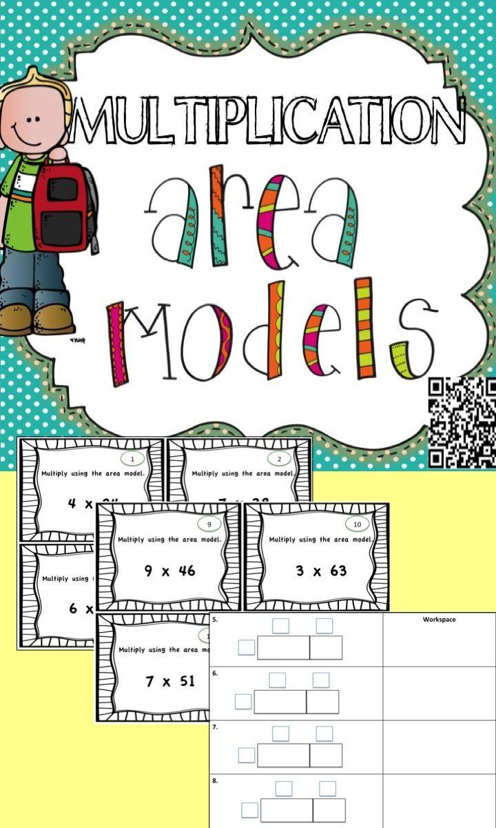 area model task cards multiplication task cards and math. Black Bedroom Furniture Sets. Home Design Ideas