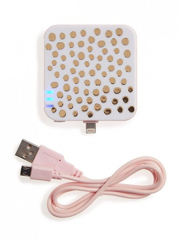 Don't get caught with a dying phone! This portable Ban.do iPhone charger is a must! Essential #5 !