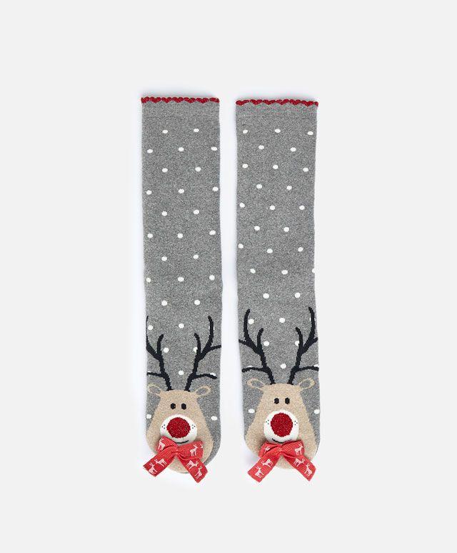 reindeer socks oysho socks