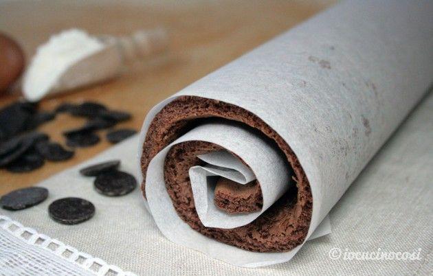 Pasta biscotto al cioccolato per rotoli e girelle