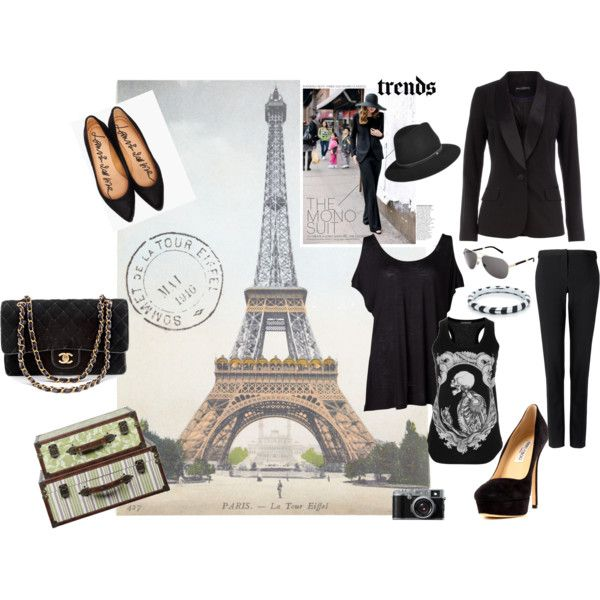 """Black on Black"" by sarahghag on Polyvore"