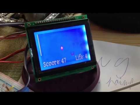 DIY Arduino LCD game - Faling life & points