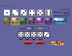 play YAHTZEE online