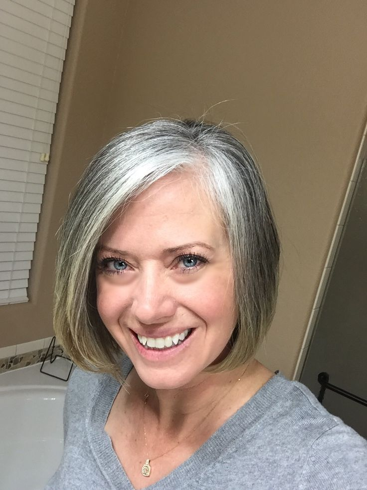 growing out grey hair styles one year without coloring this year i ll focus on length 7321