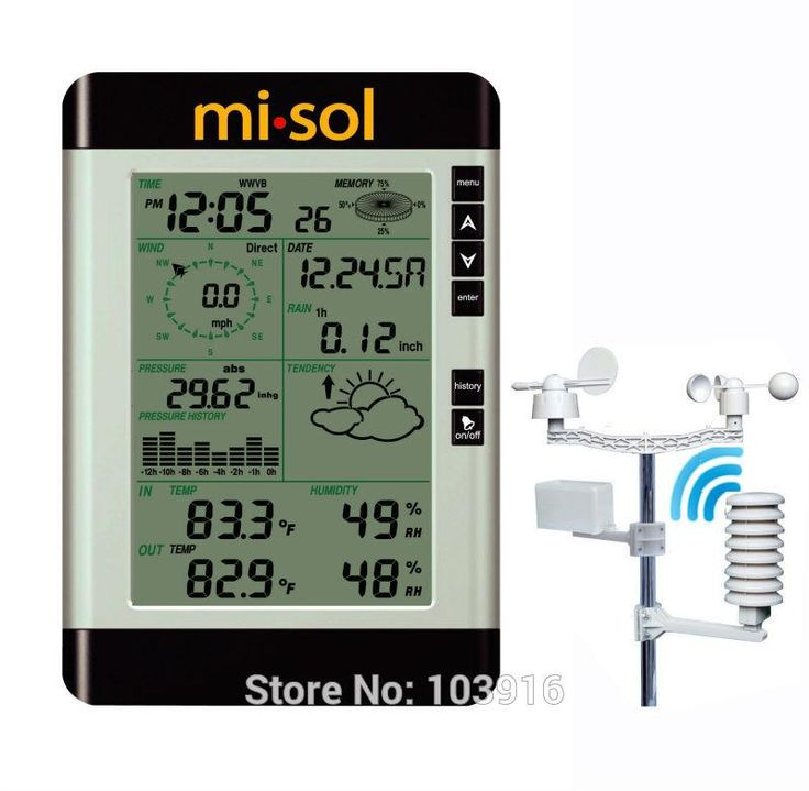 [Visit to Buy] Professional Wireless Weather Station with PC connection, weather forecast, wind speed, rain guage #Advertisement