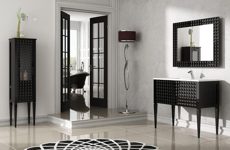 Muebles De Baño Estilo Neoclasico:Mueble de baño Diamond negro