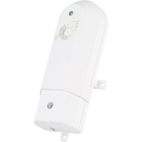 AILD-250 Opbouw Dimmer  De AILD-250 opbouw dimmer is bedoeld om dimbare verlichting draadloos te dimmen met maximaal 6 KlikAanKlikUit zenders. Je installeert deze ontvanger in meubel of verlaagd plafond sluit de dimbare verlichting aan op de ontvanger en meldt naar wens ??n of meerdere KlikAanKlikUit zender(s) aan. Gebruik hiervoor een KlikAanKlikUit zender naar keuze bijvoorbeeld een afstandsbediening of draadloze wandschakelaar. Om deze diverse typen verlichting succesvol te kunnen dimmen…