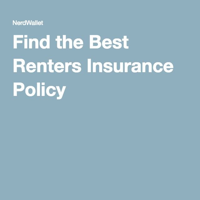 Find the Best Renters Insurance Policy